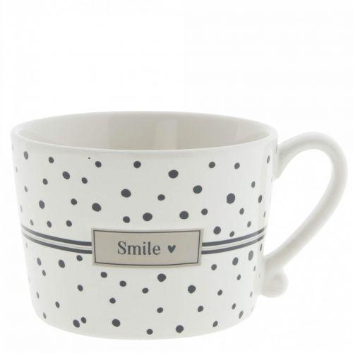 Bastion Collections / Keramický hrnček Smile Dots Black 240 ml