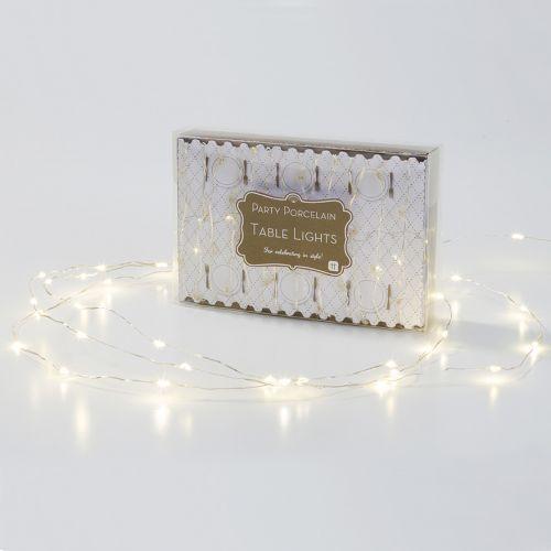 Talking Tables / Svetelný LED drôtik Party Silver