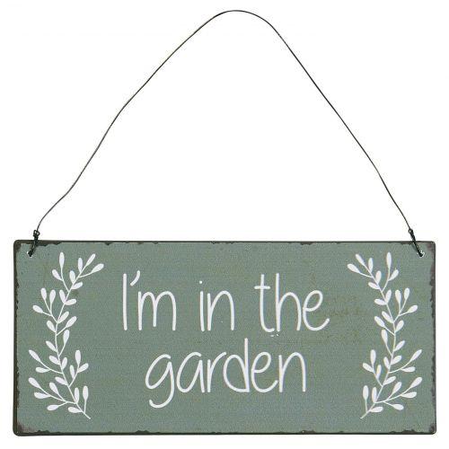 IB LAURSEN / Plechová ceduľa I'm In The Garden