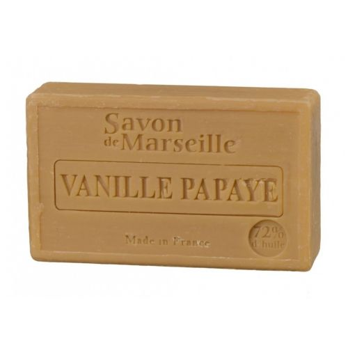 LE CHATELARD / Marseillské mydlo 100 g - vanilka a papája