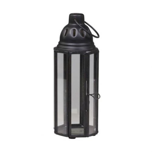 Chic Antique / Kovový lampáš Thin Antique Coal
