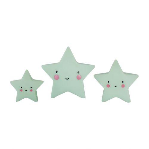 A Little Lovely Company / Mini plastová figúrka Star Mint - 3 ks