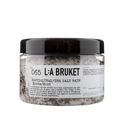L:A BRUKET / Morská soľ do kúpeľa s mätou 450 gr