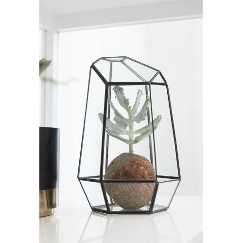 Hübsch / Sklenený box Polyhedron Black