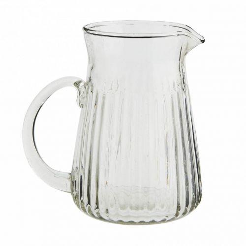 MADAM STOLTZ / Sklenený džbánik Glass Jug Grooves 600 ml
