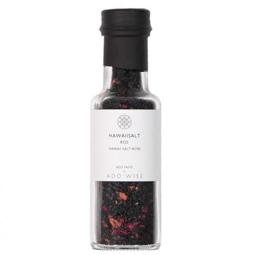 ADD:WISE / Havajská čierna lávová soľ s lístkami ruže 135g