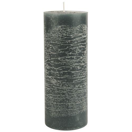 IB LAURSEN / Okrúhla sviečka Rustic Moss Green 18 cm