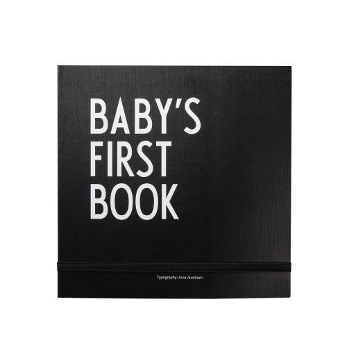 DESIGN LETTERS / Denník miminka Baby's First Book - Black