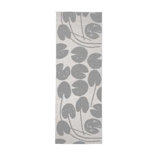Fine Little Day / Plastový koberec Water Lilies Grey 70x150 cm