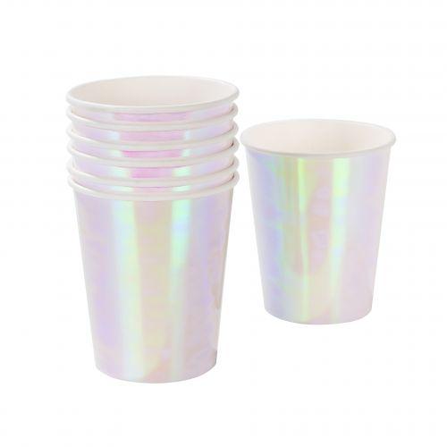Talking Tables / Perleťové papierové poháre Iridescent - 12 ks