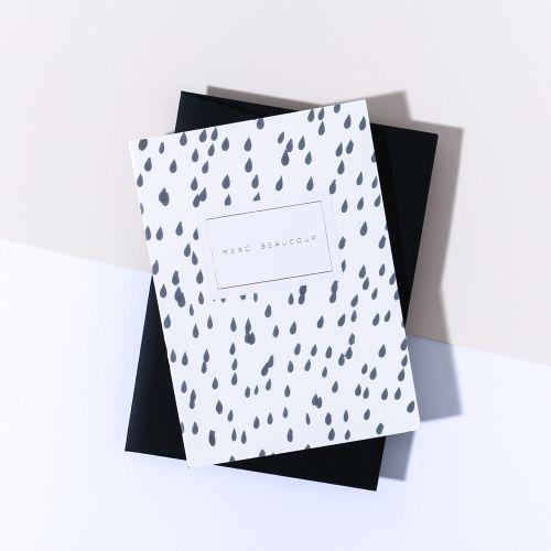 À L'AISE / Papierové prianie s obálkou Merci Beaucoup
