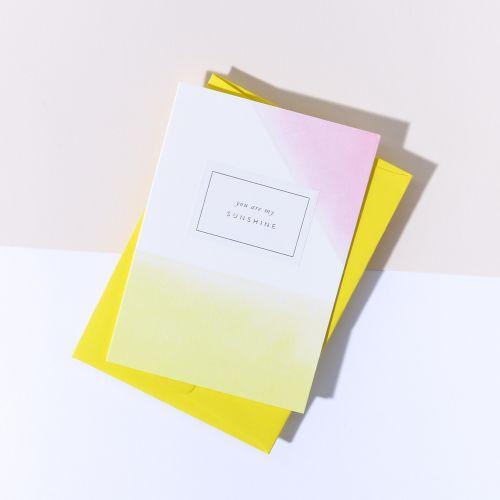 À L'AISE / Papírové přání s obálkou Sunshine