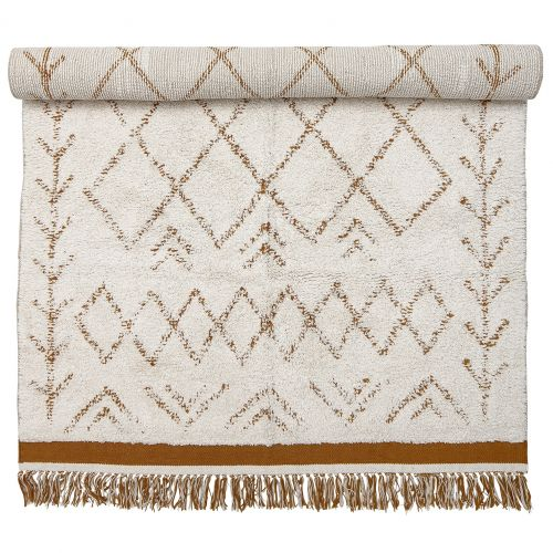 Bloomingville / Bavlnený koberec Off white/Orange 200x120 cm