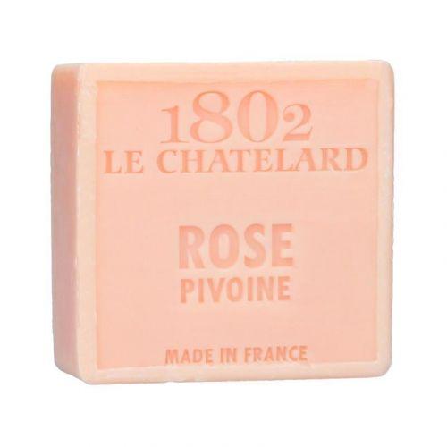 LE CHATELARD / Mýdlo Marseille 100 g čtverec - růže a pivoňka