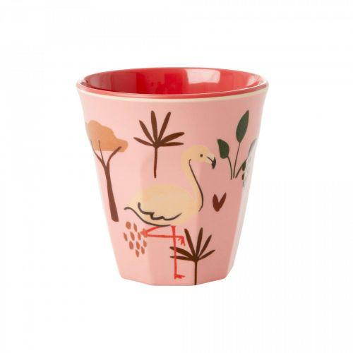 rice / Detský melamínový pohárik Pink Animals 150 ml