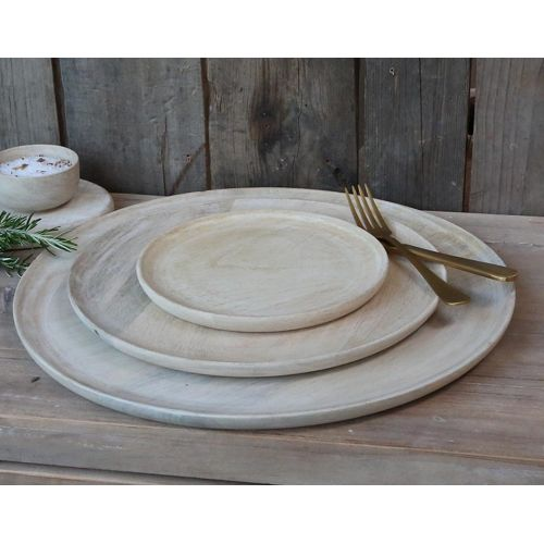 Chic Antique / Drevený tanier Mango Wood 20cm