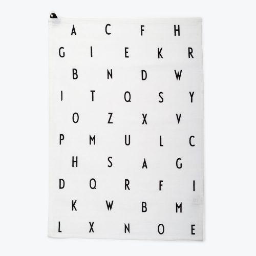 DESIGN LETTERS / Bavlnená utierka Letters White