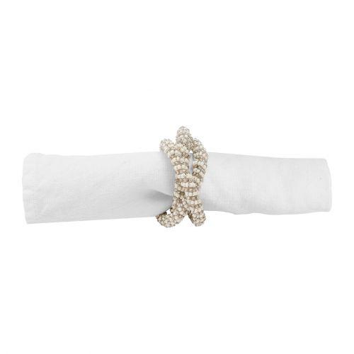 CÔTÉ TABLE / Ozdobné krúžky na obrúsky - Perle d'Argent