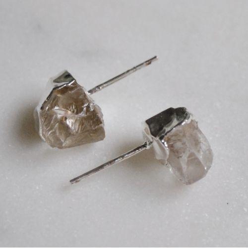 DECADORN / Náušnice Mini Clear Quartz/Silver