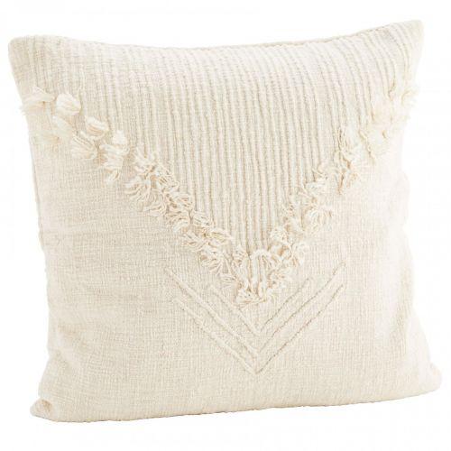 MADAM STOLTZ / Bavlnená obliečka na vankúš Off White 50x50