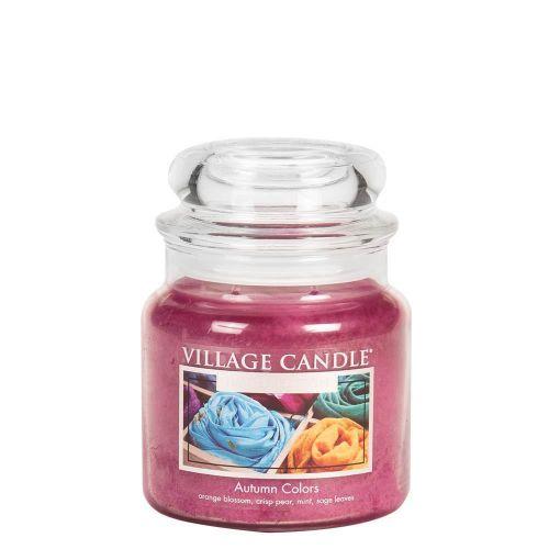 VILLAGE CANDLE / Sviečka v skle Autumn Colors - stredná