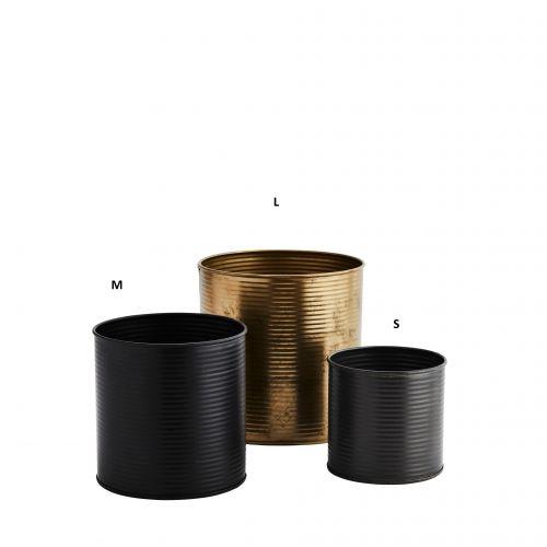 MADAM STOLTZ / Kovový obal na kvetináč Iron Fancy Pot