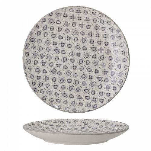 Bloomingville / Keramický tanier Elsa Grey ⌀20,5cm