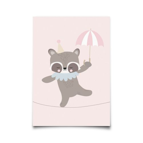EEF lillemor / Pohľadnica Circus Raccoon Dancer