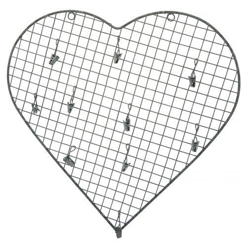 IB LAURSEN / Drátěná nástěnka ve tvaru srdce Zinc