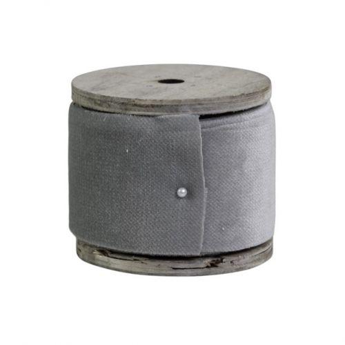 Chic Antique / Stuha so špulkou Grey Velour - 5m