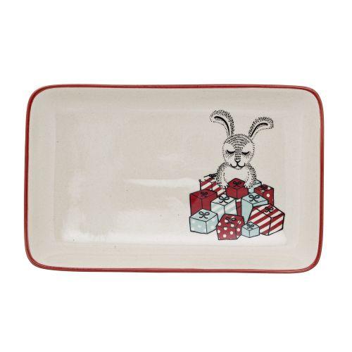 Bloomingville / Keramický tanierik Christmas Rabbit