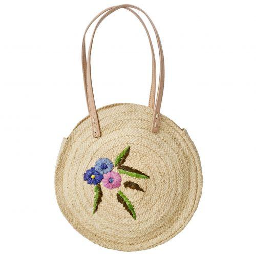 rice / Prírodná ručne pletená kabelka Flower
