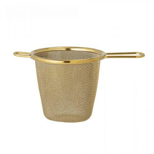 Bloomingville / Kovové sitko na čaj Gold Steel