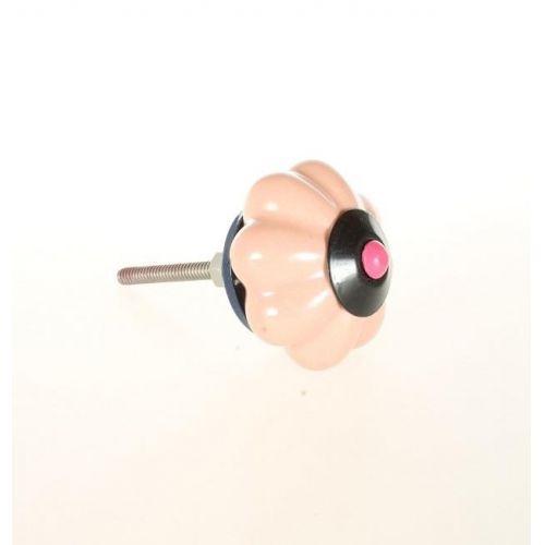 La finesse / Porcelánová úchytka Pink Flower
