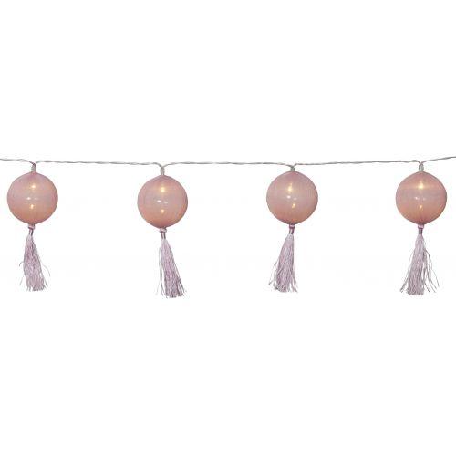 STAR TRADING / Dekoratívna svetelná reťaz Jolly Tassel Pink