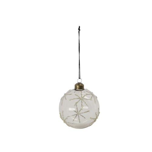 House Doctor / Vianočná ozdoba Star Clear/Silver - 8cm