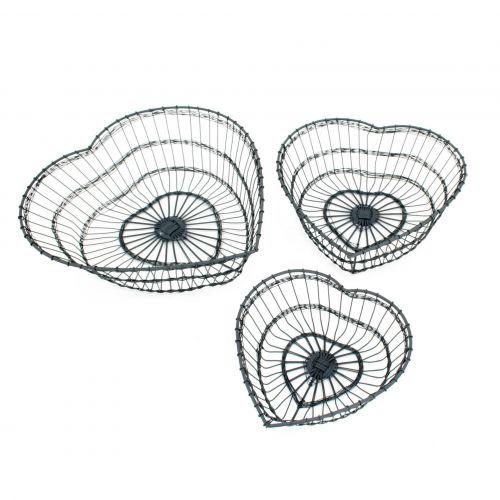 Krasilnikoff / Drôtený košík Heart