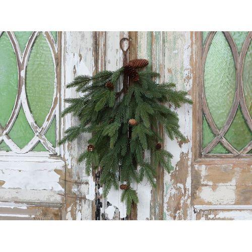 Chic Antique / Dekoratívna vetva so šiškami Pine