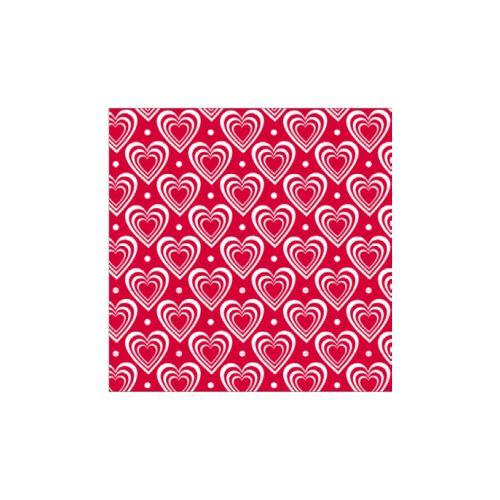 Krasilnikoff / Papierové obrúsky Hearts Red