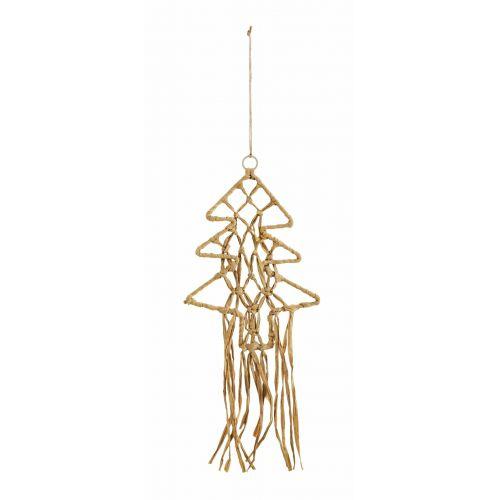MADAM STOLTZ / Závesná vianočná ozdoba Christmas Tree Raffia