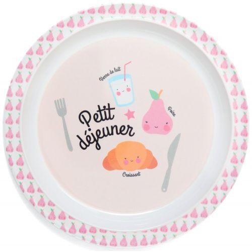 EEF lillemor / Detský melamínový tanier Petit déjeuner Pink