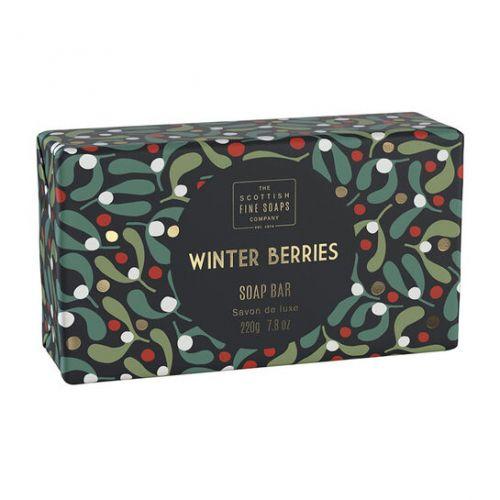 SCOTTISH FINE SOAPS / Vianočné tuhé mydlo Winter Berries 220g