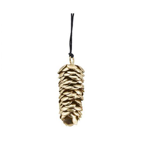 House Doctor / Závesná kovová ozdoba Cone Gold