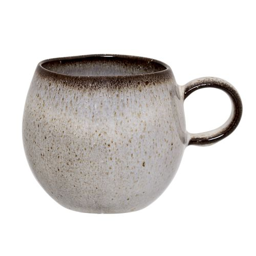Bloomingville / Keramický hrnček Sandrine Light Grey - menší