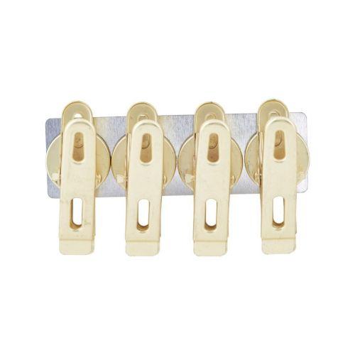 MONOGRAPH / Magnetické štipce Brass - set 4 ks