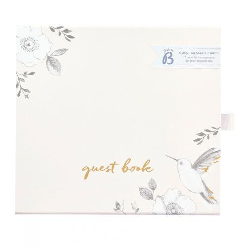 Busy B / Svadobná kniha hostí Rose Flower Box