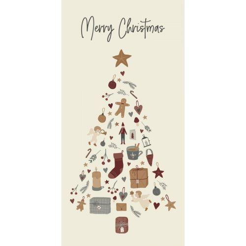 IB LAURSEN / Papierové obrúsky Merry Christmas Tree 40×40 cm