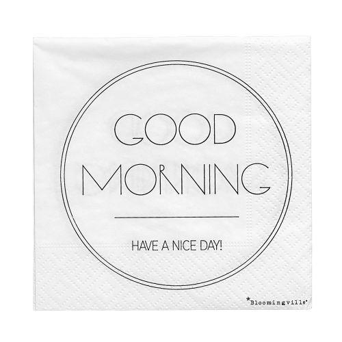 Bloomingville / Papierové servítky Good Morning