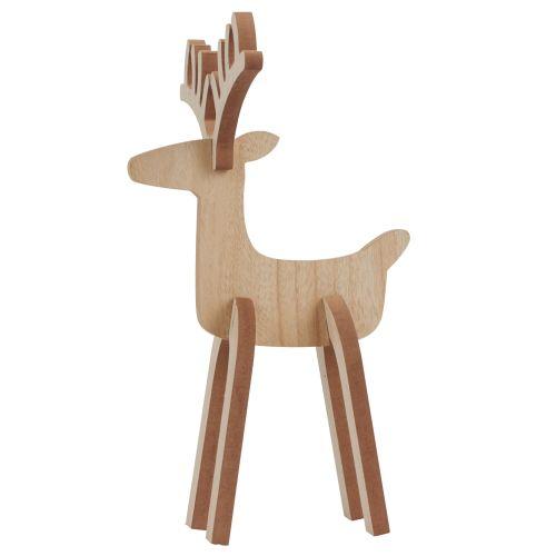 IB LAURSEN / Drevený sob Rudolph 36cm