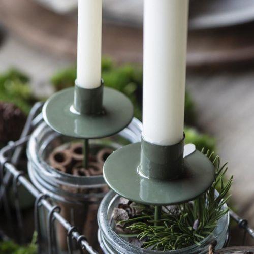 IB LAURSEN / Zapichovací svietnik na vysokú sviečku Green - menší